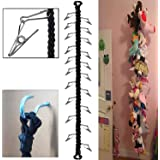 Storage Chain, Toy Organizer Chain, Elasticity Chain 60 inch + 20 Strong Stainless Steel Clips & Hardware, for Your Toy Organ