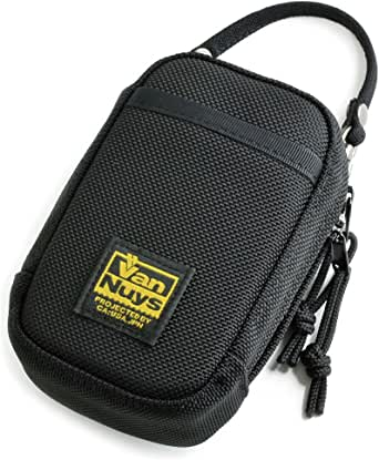 バンナイズ (VanNuys) RX100 、 iQOS 、 タバコ 、 小型 の 音楽 プレーヤー 用 ジャバラ 付き マルチ ケース / バリスティックナイロン製( ブラック )