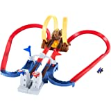 ホットウィール(Hot Wheels) マリオカート クッパ城からの脱出! 8.64x45.72x35.56cm セット専用ブルーヨッシー1台付き 5歳~ GNM22