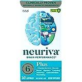Brain Support Supplement - NEURIVA Plus (30 count in a bottle), Plus B6, B12 & Folic Acid, Supports 6 Indicators Of Brain Per