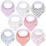 KeaBabies Baby Bandana Drool Bibs For Girls - Super Absorbent Organic Cotton Bandana Bibs - Baby Drool Bib - Teething Bibs -