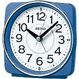 セイコークロック 置き時計 青メタリック 本体サイズ:10.8×11.0×6.0cm 目覚まし時計 電波 アナログ KR335L