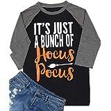 Monaisha Plus Size Hocus Pocus Shirt Women Funny Letter Print Halloween Short Sleeve Tops