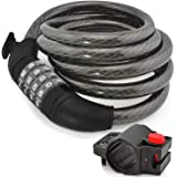Bike Cable Lock Anti Theft 4-Digit Combination Design for Road Mountain Cruiser Bicycles