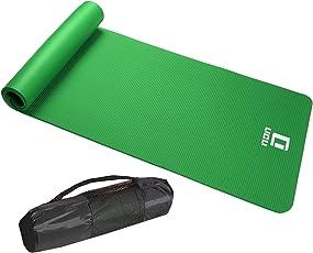 LICLI ヨガマット おりたたみ トレーニングマット エクササイズマット ヨガ ピラティス マット 厚さ 10mm 「 収納 ケース ストラップ 付 」「 ニトリルゴム 滑り止め 軽量 幅広 防音 防水 」 5カラー