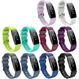 KingAcc Compatible Fitbit Inspire Bands, Soft Silicone Band for Fitbit Inspire,Inspire HR, with Metal Buckle Wristband Strap