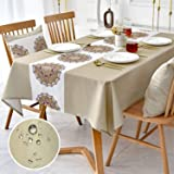 Rectangle Table Cloth 52 x 86 Inch Waterproof ,Oil-Proof,Wrinkle Free Tablecloth ,Wipe Clean Table Cover for Dining Room,Outd