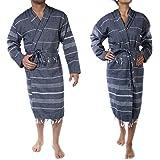 CACALA Pure Series Bathrobe, Kimono – 100% Natural Turkish Cotton Fabric – Ultra-Absorbent and Plush – Fast Drying, Comfortab