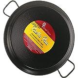 La Paella Garcima 16-Inch Enameled Steel Paella Pan, 40 cm, Medium, Black