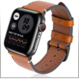 Fullmosa Wax アップルウォッチ バンド レザー apple watch ベルト iwatch バンド 革 appleウォッチ 皮ベルト38mm 40mm 42mm 44mm 腕 時計バンド 本革 アップルうぉっち バンド アップルウォッチ