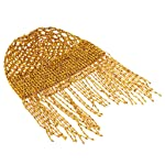 Prettyia 1920s Beaded Cap Belly Dance Cap Exotic Cleopatra Headpiece for Gatsby Themed Party