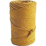 MB Cordas Macrame Cord 3mm Single Twist Macrame String 140m Soft Macrame Rope for Handmade Plant Hanger Wall Hanging Craft Ma