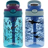 Contigo Kids Water Bottle, 14 oz with Autospout Technology – Spill Proof, Easy-Clean Lid Design – Ages 3 Plus, Top Rack Dishw