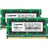 ノートPC用メモリ モジュール DDR3 1066 PC3 8500 4GBx2枚 1.5V 204pin CL7 Non-ECC SO-DIMM Mac 対応 永久保証