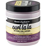 Aunt Jackie's Curl La La, Lightweight Curl Defining Custard, Creates Long Lasting Curly Hair with Mega-moisture Humectants, E
