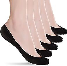 ソックス レディース フットカバー カバーソックス 浅履き 脱げにくい 吸汗速乾 抗菌防臭 履き口に縫い目がなくのパンプス 靴下 5足セット