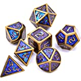 DND Dice Role Playing Dungeons and Dragons Metal Dice Set Pathfinder RPG Games DND Metal Dice Set