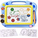 FLY2SKY Magnetic Drawing Board Kids Magna Doodle Board Travel Size Toddlers Toys Sketch Writing Colorful Erasable Sketching P