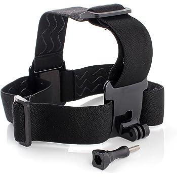 Aukru Go Pro hero 1 2 3 3+ 4 アクション カメラ用 ヘッドストラップ マウント ゴープロシリーズ 互換アクセサリー 頭部固定ベルト 調節可能 ネジ付 ブラック