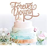 GrantParty Rose Gold Forever Young Cake Topper Young AF Cake Topper Happy 30th 40th 50th 60th Birthday Party Decorations| Per