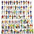 100pcs 1:87 HO Scale Standing Scenery Passengers Model Train Park Street People Figure Model Building Kit