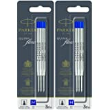 Parker Quinkflow Ballpen Medium Point Blue Ink Refill Pack Of 6-Refills(1782470)