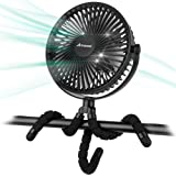 10000mAh Battery Operated Clip On Fan Flexible Tripod 360 Rotatable USB Fan for Outdoor Camping Tent Beach Treadmill Car Pers