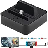[2021 Classic Version] Portable Switch TV Dock Station Replacement for Nintendo Switch Dock (No Charging Cable),TV/Video Conv