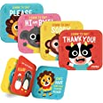 merka Bath Books Learning Set - Includes: 4 Plastic Waterproof Bath Time Baby Books and 4 Bath Crayons Thank You Set