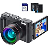 """Digital Vlogging Camera YouTube Vlog Camera HD 1080P 30FPS 24MP Camcorder with 3.0"""" IPS Flip Screen, WiFi Function, Wide Angl"""