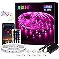 LED Strip Lights, JESLED 5M Bluetooth Led Strip Lights with 44 Keys IR Remote Controller, Smart Led Strip Lights for Bedroom,