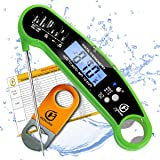 HONJAN Digital Meat Thermometer, Instant Read Meat Thermometer Waterproof for Grilling Smoking BBQ with Backlight and Calibra