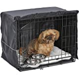 iCrate Dog Crate Starter Kit | 24-Inch Dog Crate Kit Ideal for Small Dog Breeds Weighing 13-25 Pounds | Includes Dog Crate, P