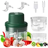 Electric Mini Food Chopper, Portable Electric Mini Garlic Chopper Food Chopper with USB Charging, For Garlic Vegetable Nuts C