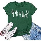 Beopjesk Women's Cactus T-Shirt Summer Cute Short Sleeve Cacti Bella Graphic Tees