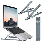 Nulaxy Laptop Stand, Portable Computer Laptop Mount, Aluminum Laptop Riser with 6 Levels Height Adjustment, Fully Collapsible