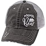 R2N fashions Mama Bear Women's Embroidered Mom Trucker Hats & Caps Black/Grey