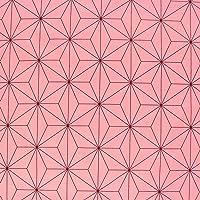 麻の葉文様 麻の葉柄 生地 ブロード 和柄 ピンク 桃色 NBK 生地 布 コスプレ 巾約112cm×1m切売カット I…