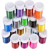 Multi-Colors Fine Glitter Powder, 18 Colors