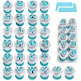 Alphabet & Numbers Fondant Cake Biscuit Mold, Cookie Stamp Impress, Alphabet Letters Cake Tool, Embosser Cutter, Upper Case N