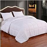 Homelike Moment Down Alternative Comforter King All Season Lightweight Duvet Insert White Microfiber Comforter with Corner Ta