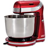 Dash Stand Mixer (Electric Mixer for Everyday Use): 6 Speed Stand Mixer with 3 qt Stainless Steel Mixing Bowl, Dough Hooks &
