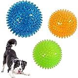 sportw 犬おもちゃ 犬用ボール 3個セット 噛むおもちゃ 音が出る 歯磨き 知育玩具 弾力性 耐久性 ストレス解消 運動不足対策 訓練用
