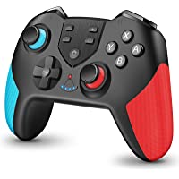 【進化版】 Switch コントローラー HD振動 無線 switch プロコン Bluetooth 接続 高耐久ボタン…