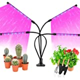 LED Grow Lights for Indoor Plants, JUEYINGBAILI 80W Full Spectrum Plant Lights with Auto ON/Off 3/9/12H Timer, 9 Dimmable Bri