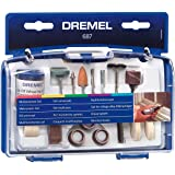 Dremel 687-01 52-Piece General Purpose Rotary Tool Accessory Kit With Case, Silver