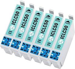 officeネット ICLC50 6本組 互換インク ライトシアン エプソン用