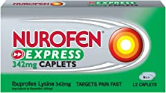 Nurofen Coated Tablets (342mg) Relief for Pain and Fever, 12 ct
