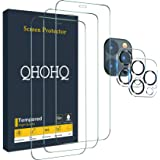 """QHOHQ 3 Pack Screen Protector for iPhone 12 Pro Max [6.7""""] with 2 Packs Tempered Glass Camera Lens Protector, Tempered Glass"""
