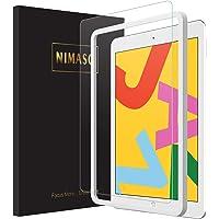 【ガイド枠付き】Nimaso iPad 10.2 ガラスフィルム (第7世代) 強化ガラス 液晶保護フィルム